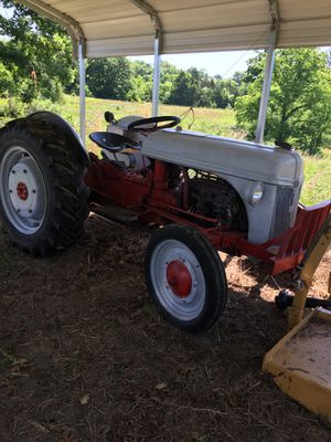 N9 red belly Ford Tractor. Partially restored. Bush hog. 12v clean for Sale in Gallatin, TN