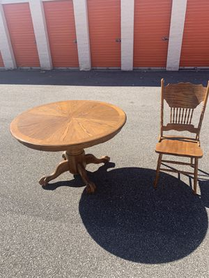 Wooden kitchen table with 6 chairs for Sale in Columbia Station, OH