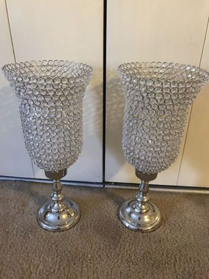 """2 new 27"""" tall crystal candle holder centerpiece click on my profile picture choose my offers for more listings inbox me pick up in Gaithersburg Mary for Sale in Gaithersburg, MD"""