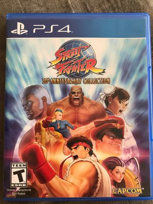 Street Fighter 30th year anniversary collection for PS4 for Sale in Westover Air Force Base, MA