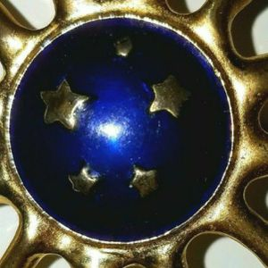Golden Sun Brooch Blue center with Gold Stars for Sale in Windermere, FL