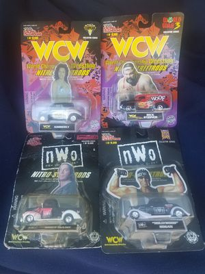 WCW/ NWO Wrestling Racing Champions Diecast Car Lot of 4 for Sale in San Francisco, CA