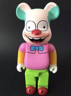 Bearbrick medicom toy be@rbrick Krusty the simpsons 20th Fox clown Figure for Sale in Las Vegas, NV