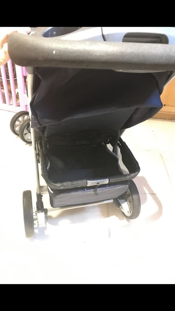 Chicco double stroller with both canopies