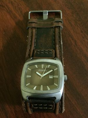 Handmade Antique leather Fossil wristwatch for Sale in Alexandria, VA