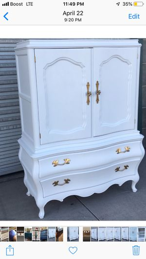 I make furniture pretty again. Have inventory available for customization. I paint dressers buffets for Sale in Santa Ana, CA
