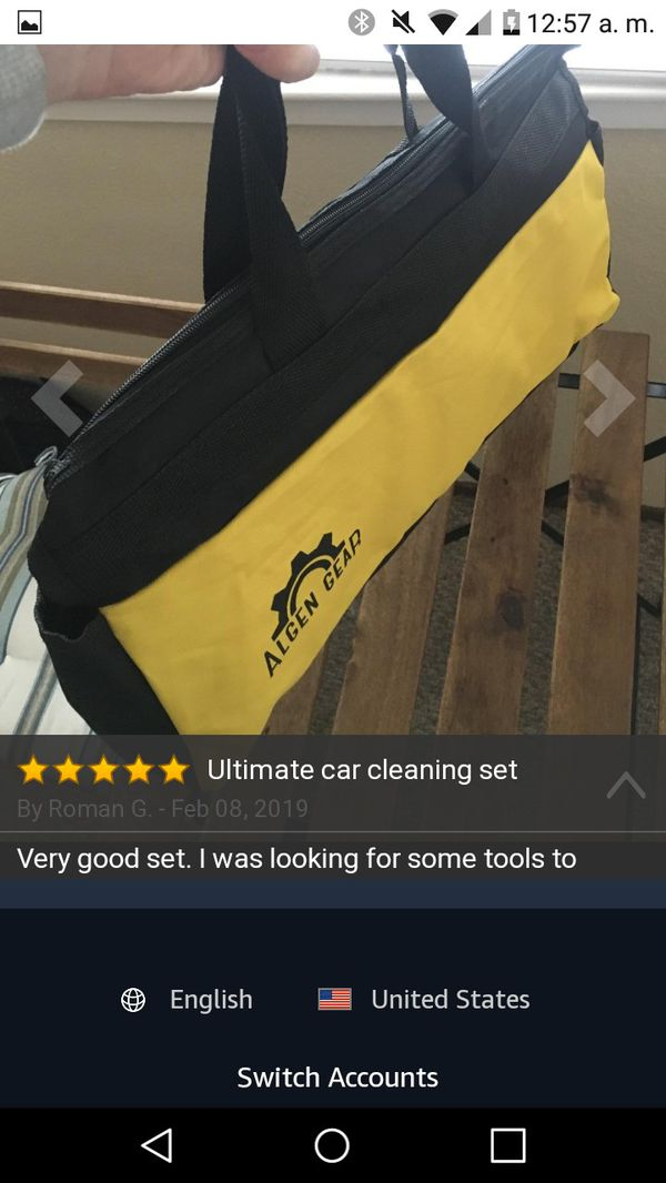 to wash car and Windows