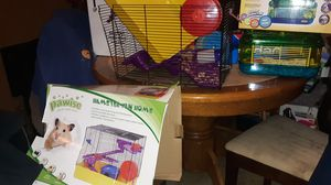 Rodent cage and carry and go cage plus I have an exicericse ball everything included for Sale in Colona, IL