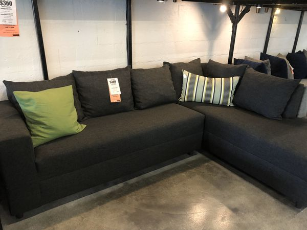 Charcoal Grey 2PC Sectional 🏷