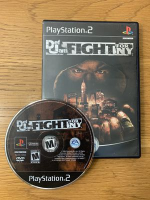 Def Jam FIGHT FOR NY PS2 BUFFED & TESTED for Sale in Tampa, FL