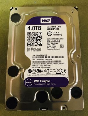 wd purple 4tb hard drive for surveillance dvr for Sale in Indianapolis, IN
