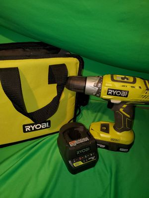 RYOBI 18V CORDLESS DRILL /BATTERY/CHARGER/BAG for Sale in Beaumont, CA