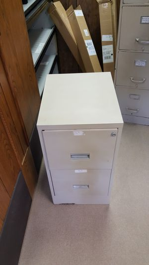 2 drawer file cabinet with key for Sale in Fremont, OH