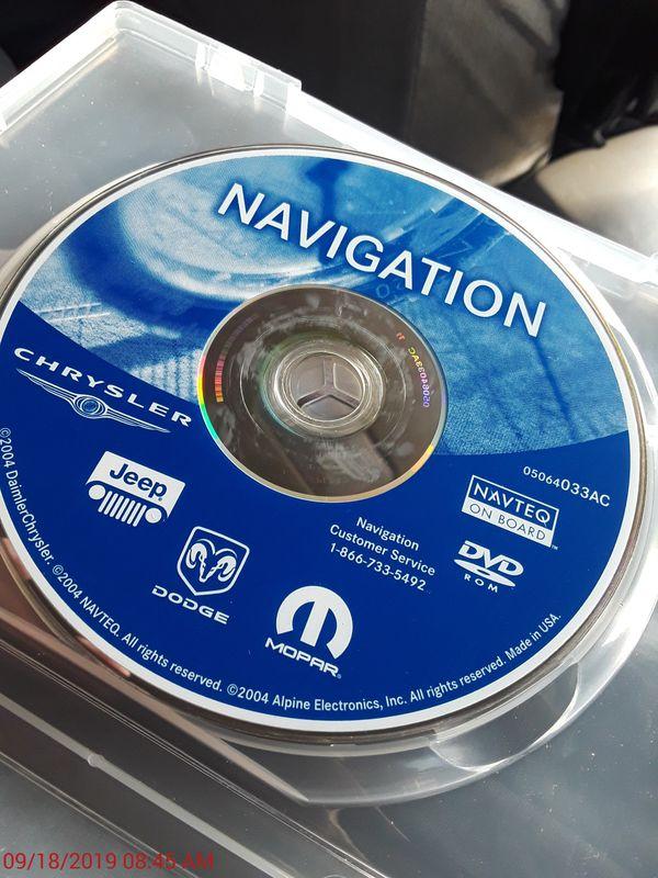 Chrysler Jeep Dodge Mopar Navigation DVD.