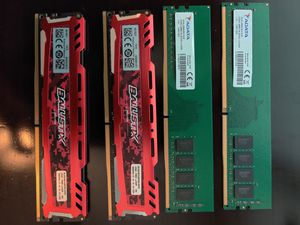 DDR4 Micron Ballistix RAM w XMP 2X8GB & DDR4 ADATA RAM 2X8GB for Sale in Corpus Christi, TX