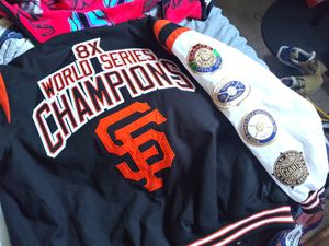 Sf giants letterman jacket mens large for Sale in Fresno, CA
