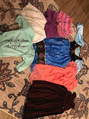 Girls size 7-9 Frozen Disney Elsa costume fancy dresses shorts shirt skirt for Sale in Las Vegas, NV