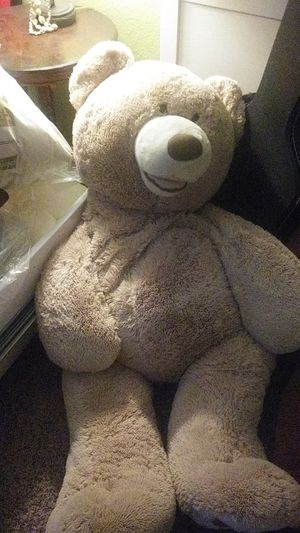 Large stuffed teddy bear approximately 4 ft tall by hug fun for Sale in Fallbrook, CA