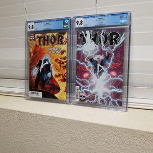Thor #6 Cgc 9.8 2020 Set Of Two Comic Books Original & Skroce Varient Cover Marvel Comics for Sale in San Jose, CA