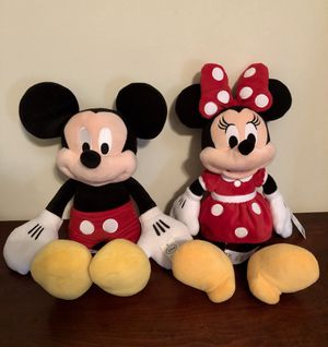 New Mickey and Minnie Mouse. $40 for both for Sale in Pine Lake, GA