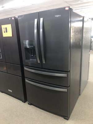 Whirlpool Black Stainless 4 Door French Door Refrigerator on sale for Sale in Norcross, GA