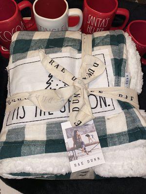"Rae Dunn ""Tis the Season"" Sherpa blanket for Sale in Santa Ana, CA"