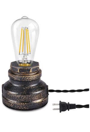 Vintage Touch Table Lamp, 3-Way Dimmable Industrial Wrought Iron Desk Lamp, Bedside Nightstand Steampunk Accent Lamp, Retro Small Antique Light Fixtu for Sale in Monterey Park, CA