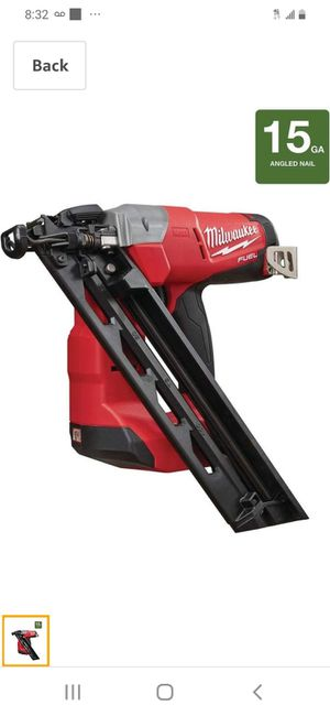 Milwaukee m18 15 gauge angle nailer ( tool only for Sale in San Jose, CA