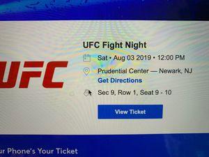 UFC fight night sat August 3 12 pm for Sale for sale  Sayreville, NJ