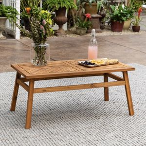Brown Acacia Wood Outdoor Patio Coffee Table for Sale in Plano, TX