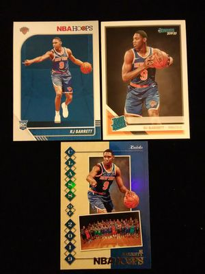 🔥RJ BARRETT🔥(3) RC Lot *2019-20 NBA Hoops Base RC #201, Class of 2019 HOLO Parallel Insert #1 and 2019-20 Donruss Rated Rookie Base #203 - NY Knicks for Sale in Alta Loma, CA