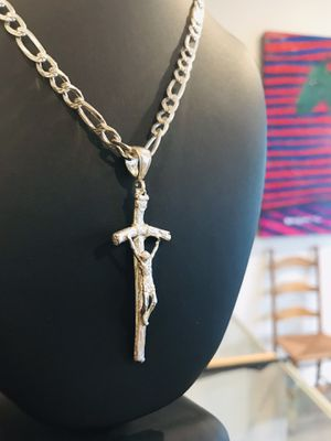 Solid heavy silver chain and charm combo deal for Sale in Palm Desert, CA