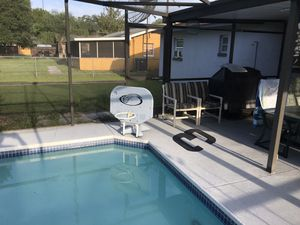 Pool basketball stand with 2 new nets for Sale in Plant City, FL