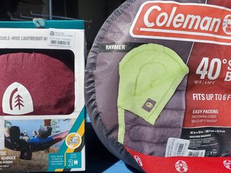 $30 COLEMAN SLEEPING BAG AND OUTDOOR HAMMOCK for Sale in Las Vegas,  NV