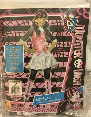 Halloween Costume Draculaura Monster High Girls Medium Size 8-10 for Sale in South Miami, FL