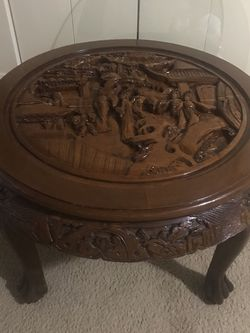 "20 Century Asian Mahogany Carved Wood Coffee /tea Table Glass Top 20""H30""W Like New For$400 Retail Price $2,800 Pick Up Gaithersburg Md20877 Cash Only for Sale in Gaithersburg,  MD"