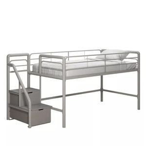 Twin loft bed with storage steps for Sale in Alliance, OH
