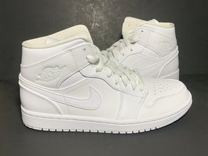 New Nike Air Jordan Mid Triple White Size 8 and 9.5 for Sale in Las Vegas, NV