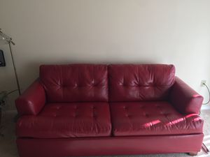 Red couch with sleeper for Sale in NO POTOMAC, MD