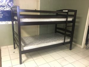 Twin over twin bunk bed MATTRESSES INCLUDED for Sale in Glendale, AZ