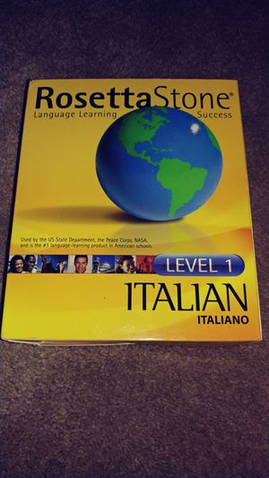New Rosetta Stone Learn Italian Language for Sale in NO HUNTINGDON, PA