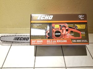 ECHO 20 in. 50.2 cc Gas 2-Stroke Cycle Chainsaw for Sale in Norwalk, CA