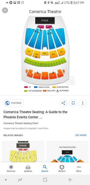 EARTH WIND AND FIRE ***PHOENIX** FRONT ROW SEATS for Sale in Tempe, AZ