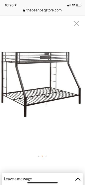 bunk beds black frame queen /xl twin for Sale in San Jose, CA