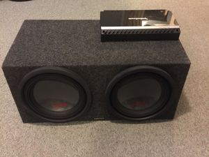 "1000 Watts Rockford Amplifier & two 12"" subwoofers with built box for Sale in Silver Spring, MD"