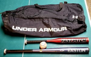 Baseball bats, Wilson ball, Under Armour bag for Sale in San Jose, CA