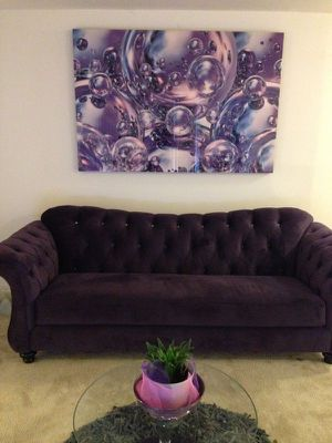 Purple couch for Sale in Bowie, MD