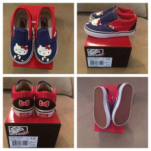 Sale $5 Off VANS Blue/Red Hello Kitty Size 7 for Sale in Greenbelt, MD