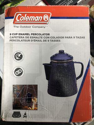 Coleman 9 cup enamel percolator for Sale in San Jose, CA