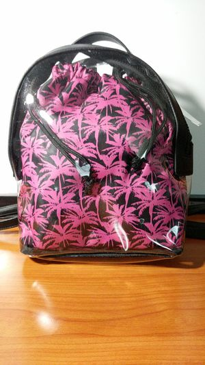 Wild Fable - Women's Clear Backpack with leather trim & pink pull string tote for Sale in Los Angeles, CA